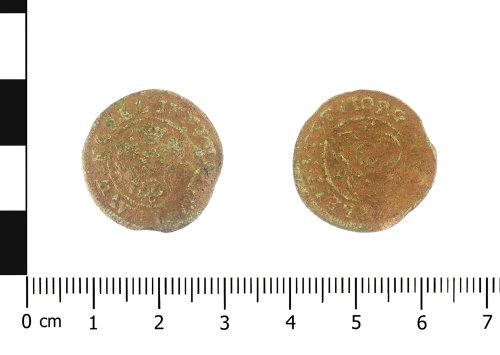 WAW-DA1751: Post Medieval Hann Krauwinckel II jetton (Obverse and reverse).