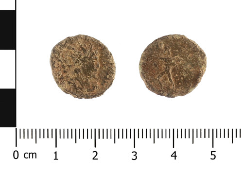 WAW-DAB9B0: Roman coin: radiate of probably Victorinus (Obverse and reverse).