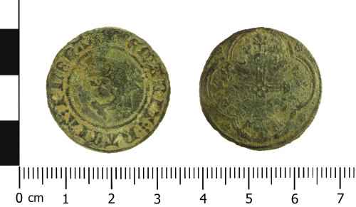 WAW-DBD389: Medieval jetton: Dolphin type (Obverse and reverse).