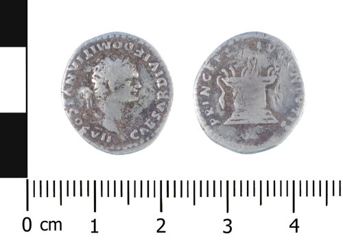 WAW-E00AA9: Roman coin: denarius of Titus (Obverse and reverse).