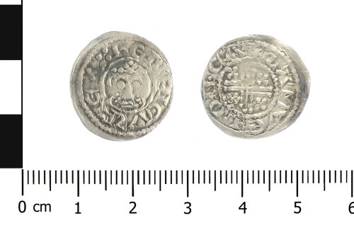 WAW-E34F33: Medieval coin: penny of John (Obverse and reverse).