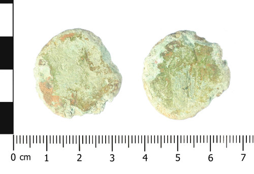 WAW-ED63DD: Roman coin: sestertius of uncertain Antonine ruler (Obverse and reverse).