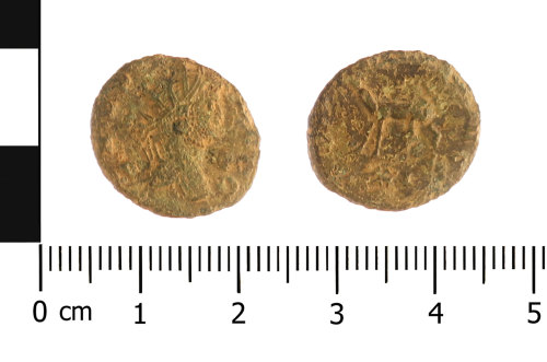 WAW-EE27EF: Roman coin: radiate of Gallienus (Obverse and reverse).