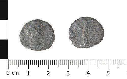 WAW-F2DBF5: Roman coin: denarius of Julia Domna (Obverse and reverse).