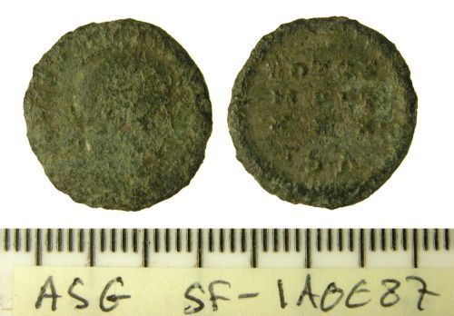 SF-1A0E87: Roman nummus of the House of Constantine