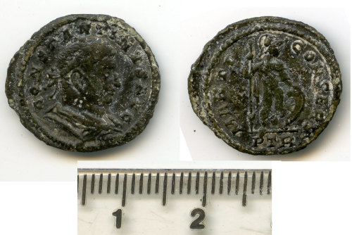 BM-3E147A: Roman coin: Half nummus of Constantine I