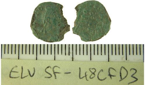 SF-48CFD3: Roman nummus of Theodosius I