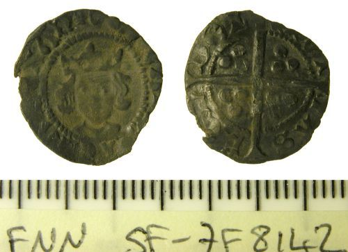 SF-7F8142: Medieval silver penny, probably of Edward IV