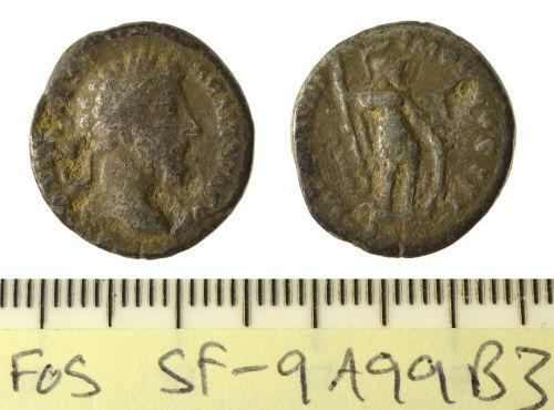 SF-9A99B3: Coin: Roman denarius of Marcus Aurelius