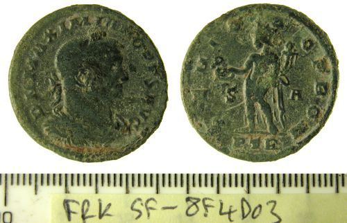 SF-8F4D03: Roman nummus of Maximian I