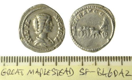 SF-B46DA2: Roman coin: denarius of Julia Domna