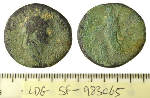 SF-983C65: Roman coin: dupondius, possibly of Vespasian