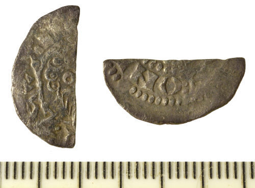 SF-88F713: Coin: Cut voided long cross halfpenny, Henry III, possibly Class 8b