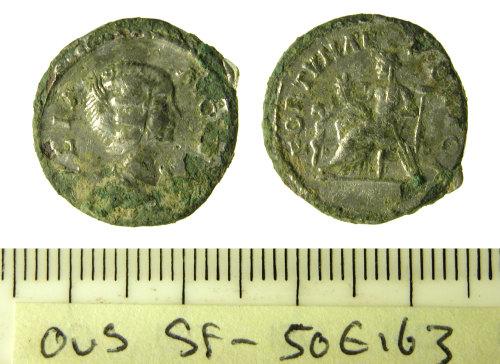 SF-50E163: Roman coin: Denarius of Julia Domna