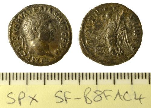 SF-B8FAC4: Coin: Roman denarius of Trajan