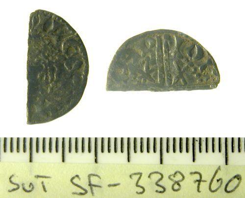 SF-338760: Cut Hlafpenny of Alexander III of Scotland