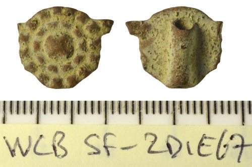 SF-2D1E67: Hooked tag of Post-Medieval date