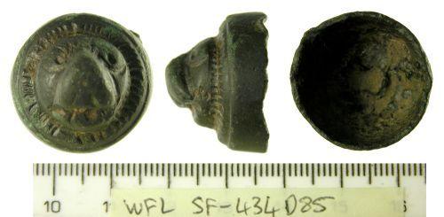 SF-434D85: Roman Lion Head Casket Mount