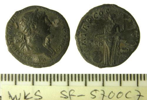 SF-5700C7: Roman coin: denarius of Trajan