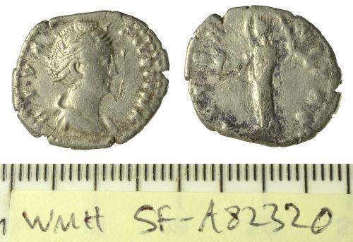 SF-A82320: Roman coin: denarius of Faustina I