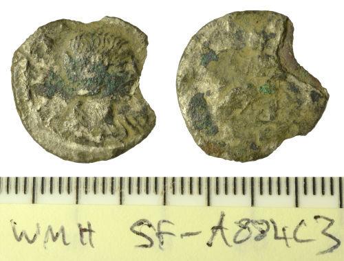 SF-A884C3: Roman coin: denarius, probably of Julia Domna