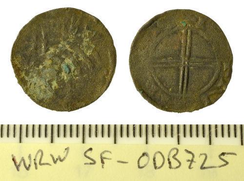 SF-0DB725: Norwegian penny of Olav Kyrre