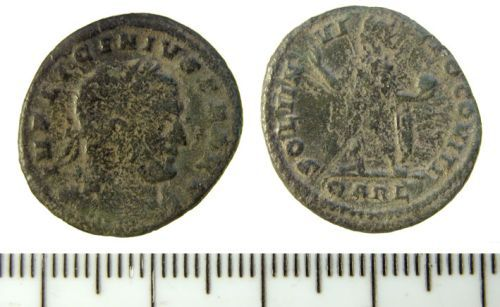 A resized image of Roman nummus of Licinius I