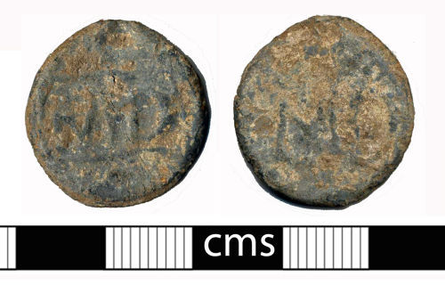 A resized image of Post-medieval token: lead token