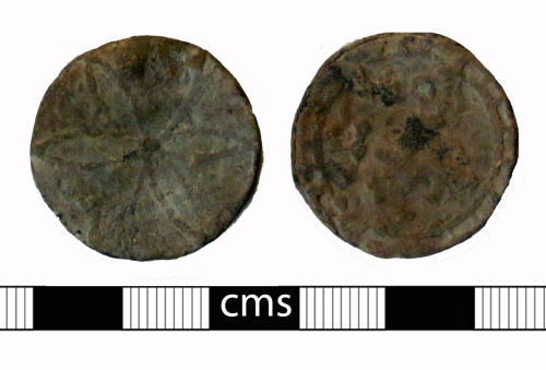 A resized image of Post-medieval token: Lead token or tally