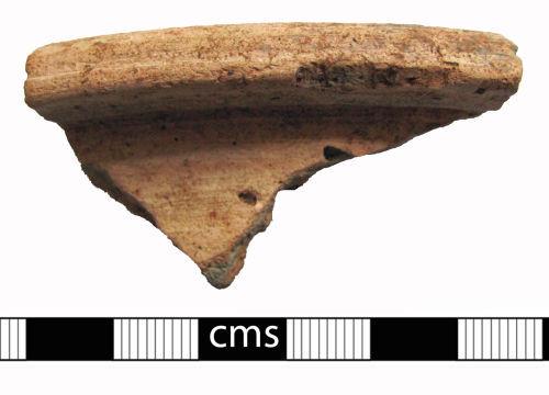 BERK-3BFB25: Roman vessel: Oxfordshire ware rim sherd