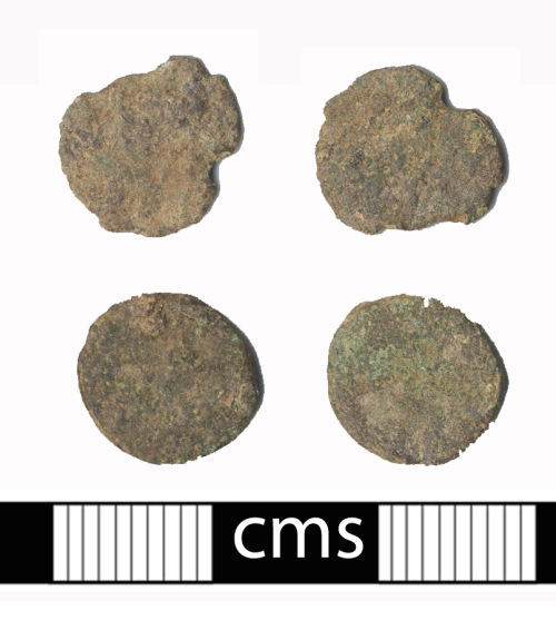 BERK-8BB731: Roman coin: Two illegible nummi