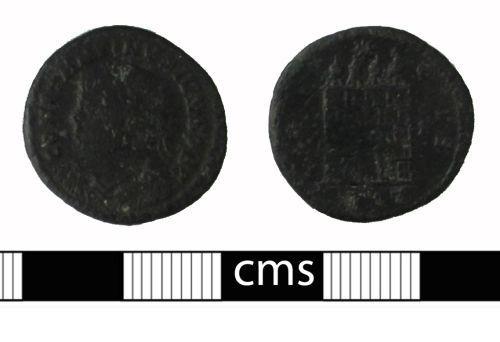 BERK-C058E6: Roman coin: Nummus of Constantine II