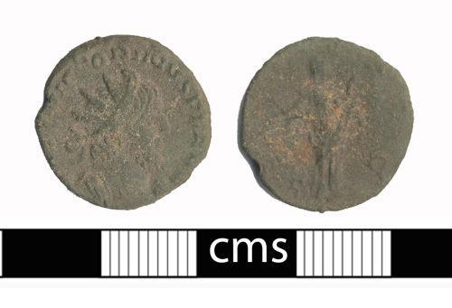 BERK-CB05F5: Roman coin: Radiate of Victorinus