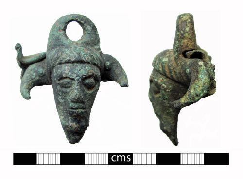 BERK-783763: Iron Age Mount: Anthropomorphic bucket mount