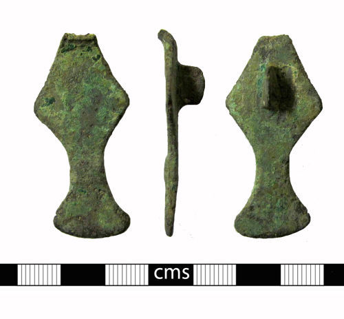 BERK-4AE6C5: Early-medieval brooch: Small long brooch
