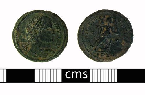 BERK-EDCB3A: Roman coin: Nummus of Constantine I