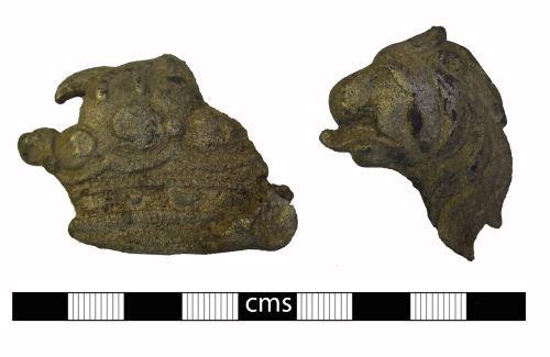 BERK-0401EE: Post-medieval mount: Heraldic mount