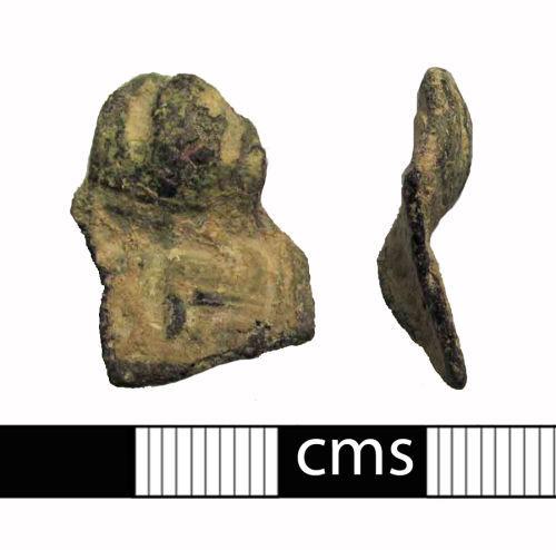 BERK-04DF75: Early-medieval brooch: Great square headed broch fragment