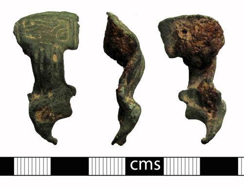 BERK-056093: Early-medieval brooch: Melted equal-armed brooch