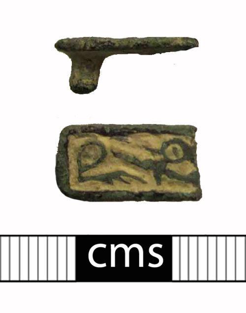 BERK-059CC2: Early-medieval strap fitting: Belt decoration