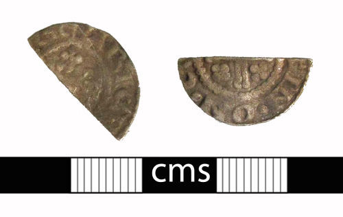 A resized image of Medieval coin: Cut halfpenny of Henry II