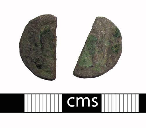 BERK-0B150C: Roman coin: Cut-half denarius
