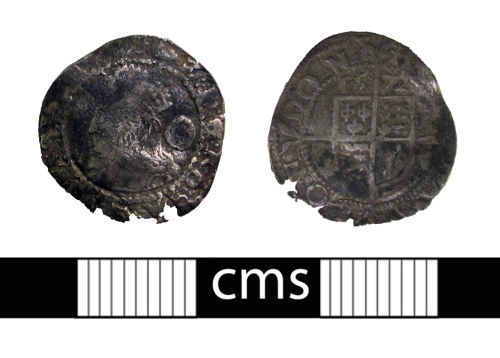 BERK-4B9CE0: Post-medieval coin: Three halfpence of Elizabeth I