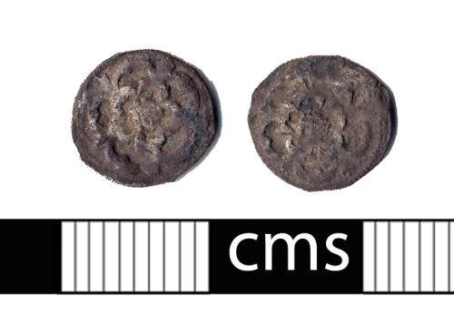 BERK-21C0FD: Post-medieval coin: Halfpenny of Charles I