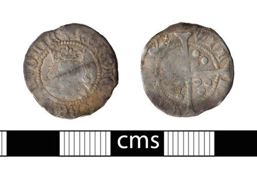 BERK-54C3DE: Medieval coin: Penny of Henry VI