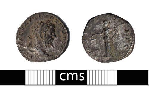 BERK-FAC7F8: Roman coin: Denarius of Septimius Severus