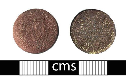 BERK-58CCE0: Post-medieval token: Thame trade token