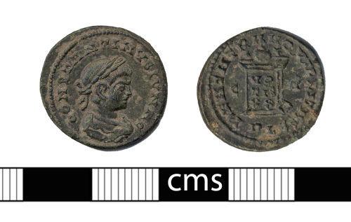 BERK-2FEECE: Roman coin: Nummus of Constantine II
