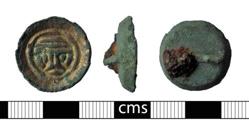 BERK-3E22D3: Early-medieval brooch: Button brooch