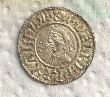 BERK-64F682: Early-medieval coin: Penny of Aethelred II (obverse)
